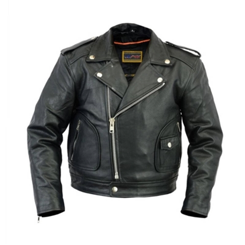 9762bb1a9 Kids Leather Motorcycle Jacket / The Best Quality Classic Biker Style