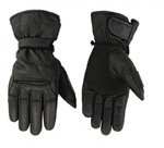 Men's Insulated Leather Motorcycle Gloves - Waterproof Gauntlet