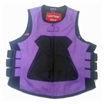 "Women's Purple Textile Motorcycle Vest - ""Icon Style"""