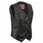 Women's Leather Motorcycle Vests -Gun Pockets