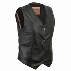 Women's Leather Motorcycle Club Vests - Concealed Carry