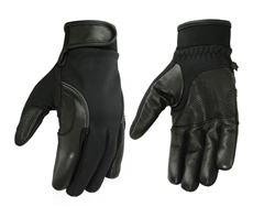 Men's Lightweight Motorcycle Gloves - Perforated Leather
