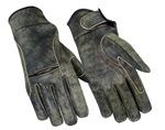 Antique Brown Leather Motorcycle Gloves