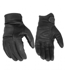 Lightweight Leather Motorcycle Gloves: Lined