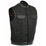 Textile Gun Concealment Men's Motorcycle Vests