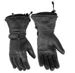 Ladies Leather Motorcycle Gloves - Winter Waterproof