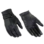 Ladies Leather Motorcycle Gloves: Classic Daniel Smart