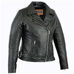 Womens Soft Leather Motorcycle Jackets