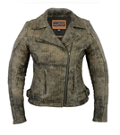 Antique Brown Leather M/C Jacket