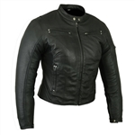 Ladies Leather Motorcycle Jackets - Lightweight Lambskin Racer