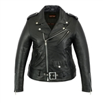 Ladies Lightweight Leather Biker Jacket
