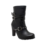 Ladies High-Heel Biker Boots