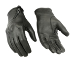 Ladies Protective Leather Motorcycle Gloves: Racer