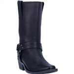 Womens Moto Leather Harness Boots