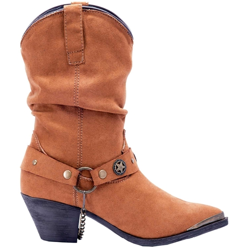 697918765 Dingo Ladies Tan Slouchy Western Boots