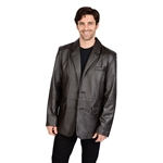 Mens Brown Lambskin Leather Blazer Jacket