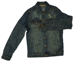 Kids Blue Denim Motorcycle Jacket