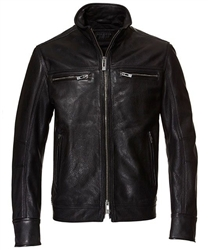 Men's Leather Motorcycle Jacket: Rogue State