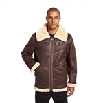 Excelled Mens Faux Shearling Jacket