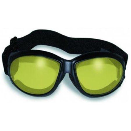 Biker Sunglasses Yellow to Smoke Photochromatic Lenses