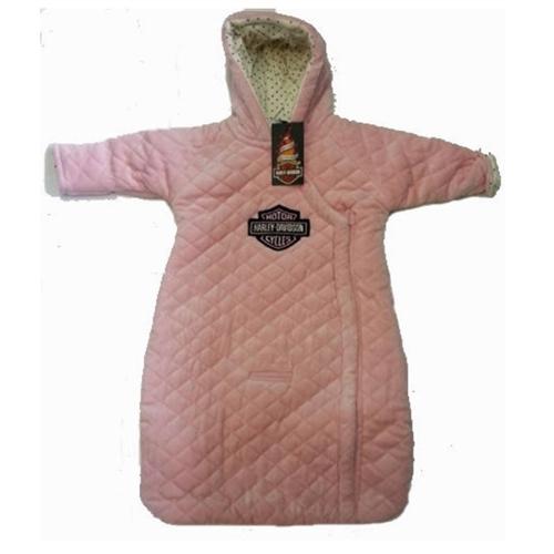 7444fcb6f Harley-Davidson Baby Clothes - Pink Pram Infant Girls Snowsuit Jacket