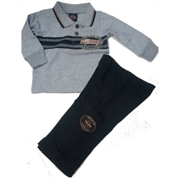 Harley-Davidson Infant Boy Outfit: Polo, Pants