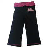 Harley-Davidson Girls Clothes: Yoga Pants, Black & Pink Kids