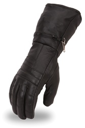 Insulated Winter Leather Motorcycle Gloves