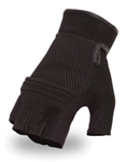 Mesh Gel Palm Fingerless Motorcycle Gloves