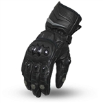 Perforated Leather Racing Gloves W/ Knuckle Protection