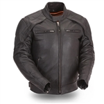 Reflective Leather Motorcycle Jackets: Scooter Collar