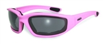Women's Padded Motorcycle Glasses- Pink