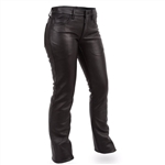 Women's Leather Jeans: Motorcycle Chap Pants