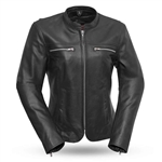 Womens Cafe Racer Leather Jackets - Roxy by First Classics