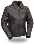 Cowhide Cruiser Womens Leather Motorcycle Jacket