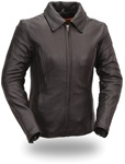 Women's Leather Motorcycle Jacket -  First Classics 5XL