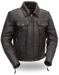 Womens Leather Motorcycle Jacket - Utility Cruiser