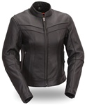 Women's Leather Motorcycle Jackets 4XL Stylish Scooter