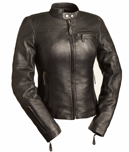 Women's Leather Motorcycle Jackets By First Classics - Free Shipping