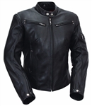 Sleek Vented Scooter - Womens Leather Motorcycle Jackets