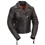 Studded Women's Leather Motorcycle Jacket