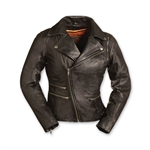 First Classics Ladies Leather Motorcycle Jackets