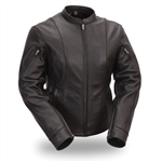 Womens Leather Motorcycle Jackets - First Classics Vented Racer