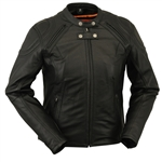 Womens Leather Motorcycle Jackets: Racer Style
