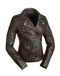 Purple Accented Leather Motorcycle Jackets: FIL184CJ