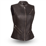 Women's Leather Motorcycle Vests: The Fairmont Vest