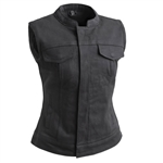 Women's Black Denim Club Vest  First Classics Lexy