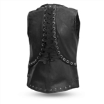 Women's Leather Motorcycle Vests: First Classics Empress