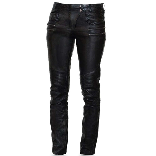 Women S Leather Motorcycle Pants Sexy Vixen First Classics