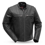 First Classics Leather Scooter Motorcycle Jacket, Rocky